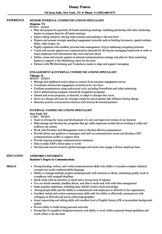 communication degree resume sample