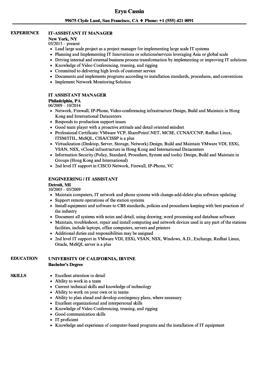 resume standards