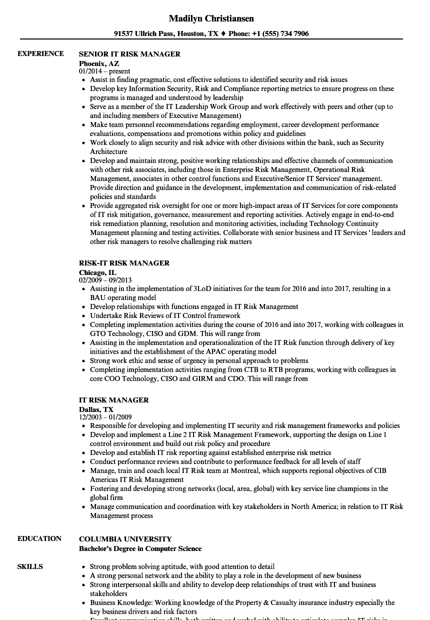 vulnerability management resume sample