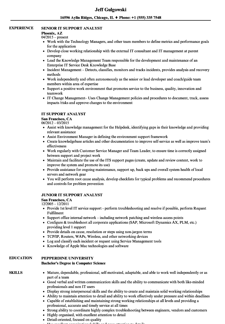resume for delivery job