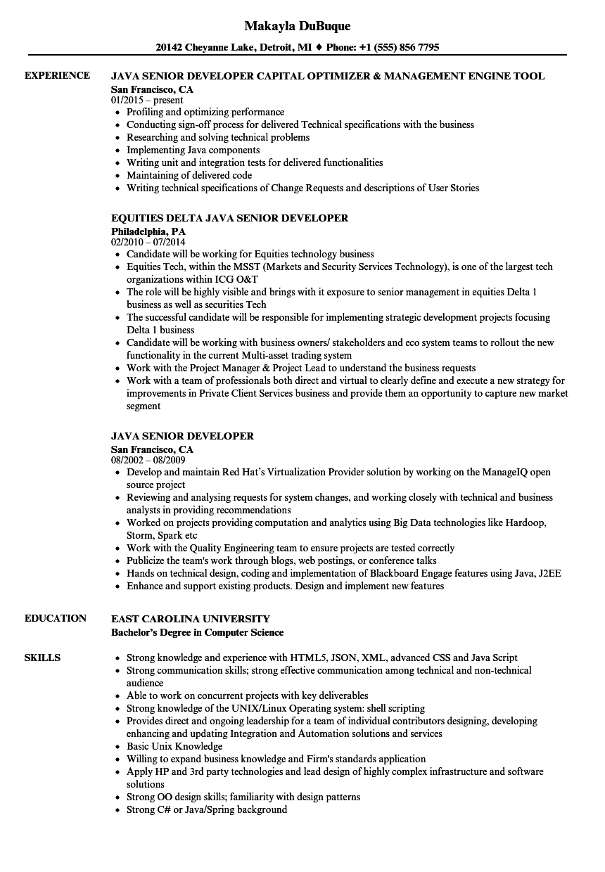 sample resume for 2 years experience in shell scripting