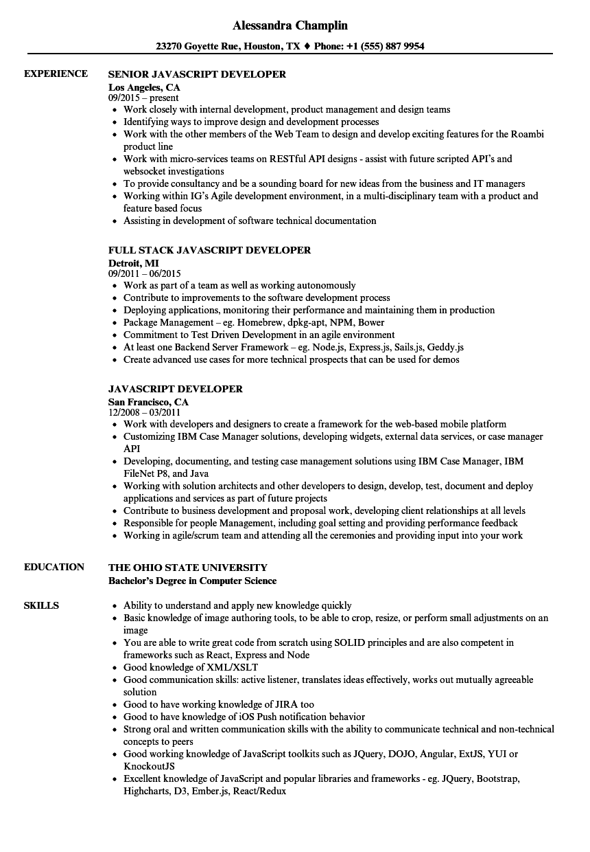 how to mention client side experience in resume sample