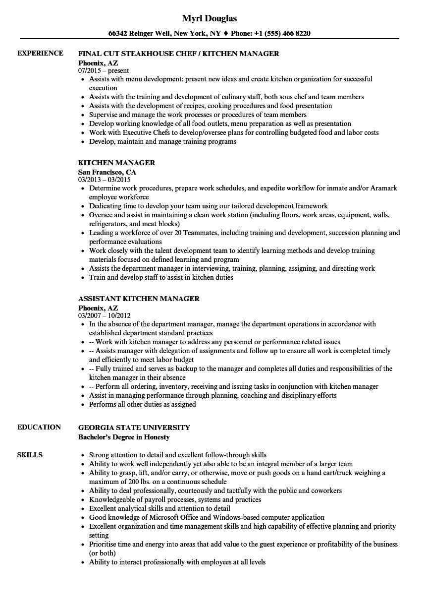 resume sample front house manager