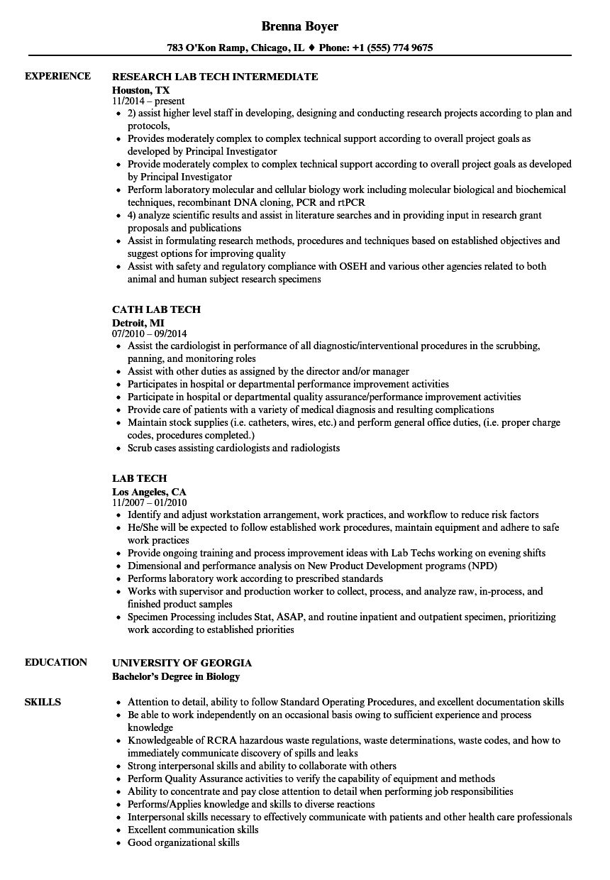monitoring room technician resume examples