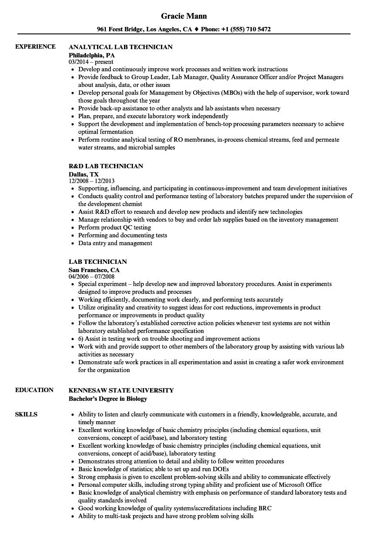 cath lab technician resume sample