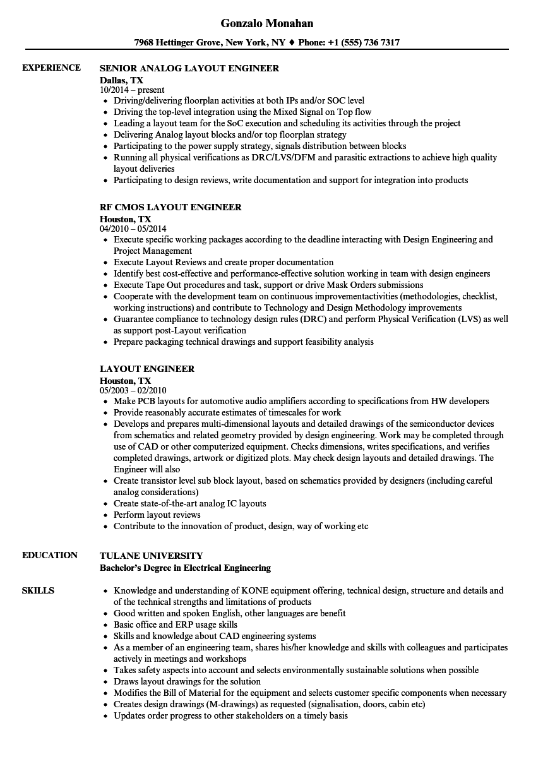 av engineer resume samples