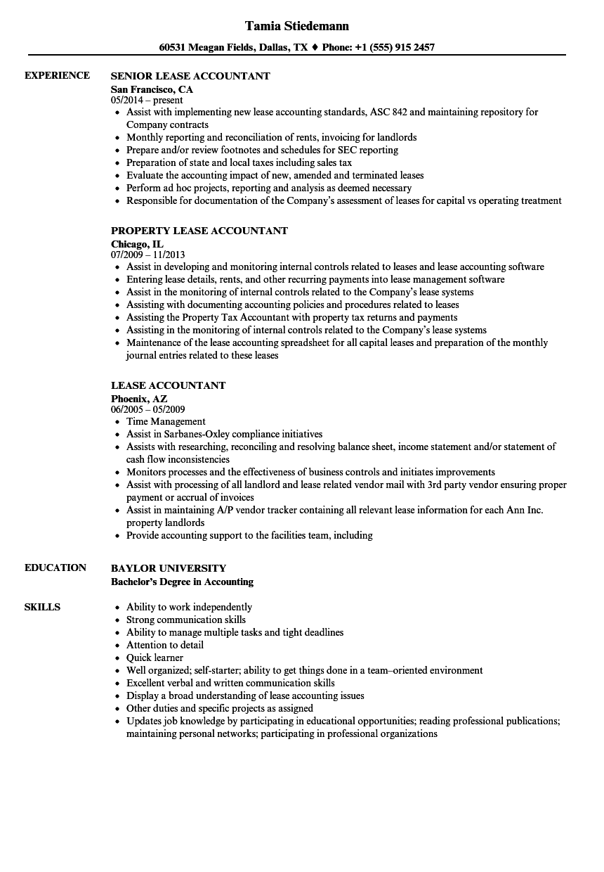 property administrator resume