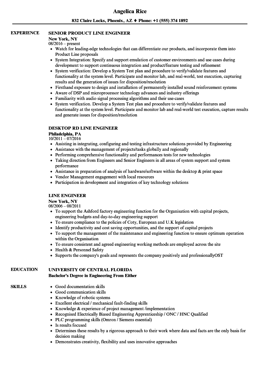 product line manager resume sample