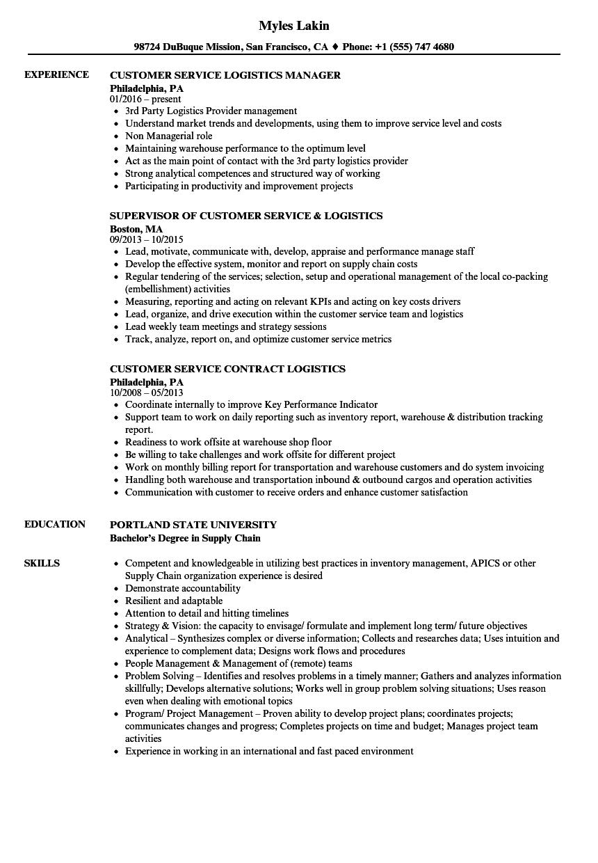 warehouse customer service resume sample