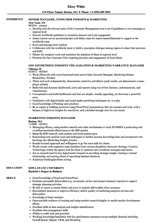 sample resume for assistant manager marketing