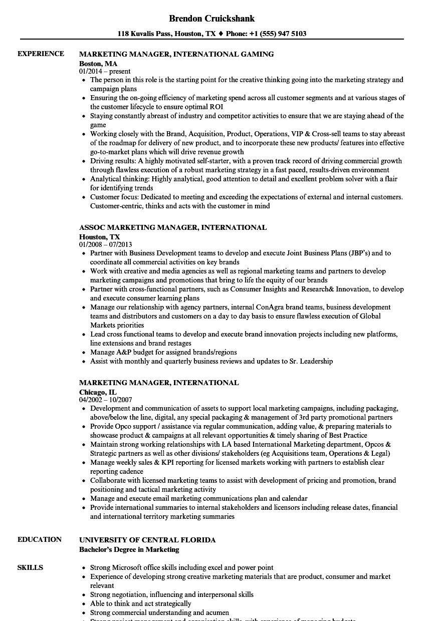 mobile media manager resume sample