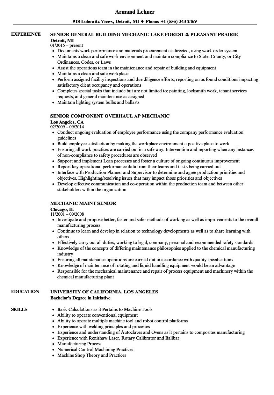 machine operator welding assembly resume sample