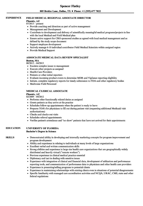 registered client associate resume sample