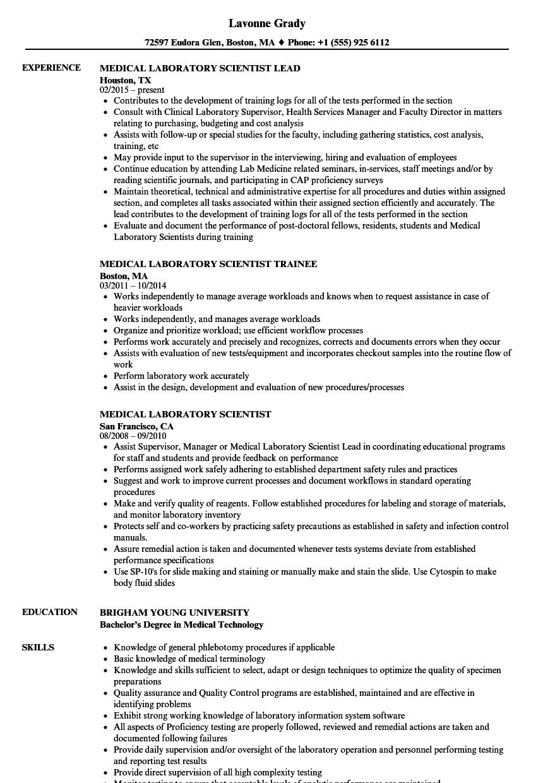 mls resume sample
