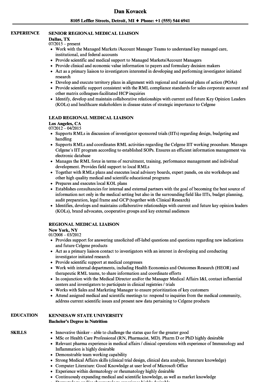 community liaison resume sample