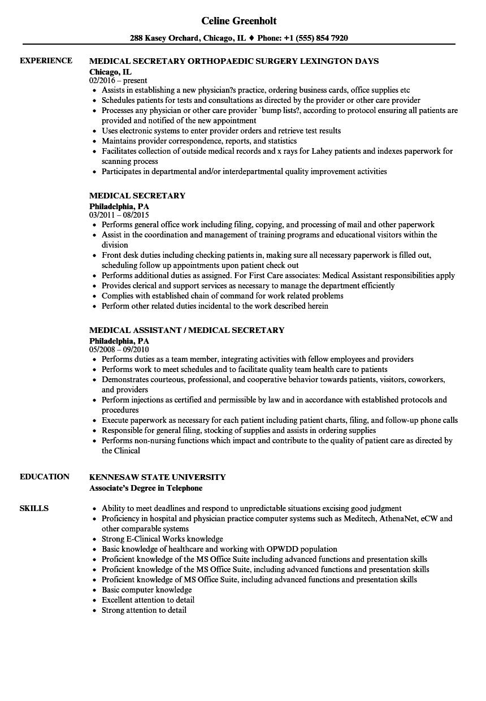 office secretary resume examples
