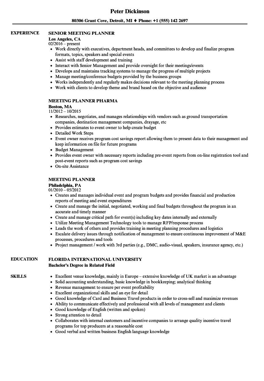 resume meeting
