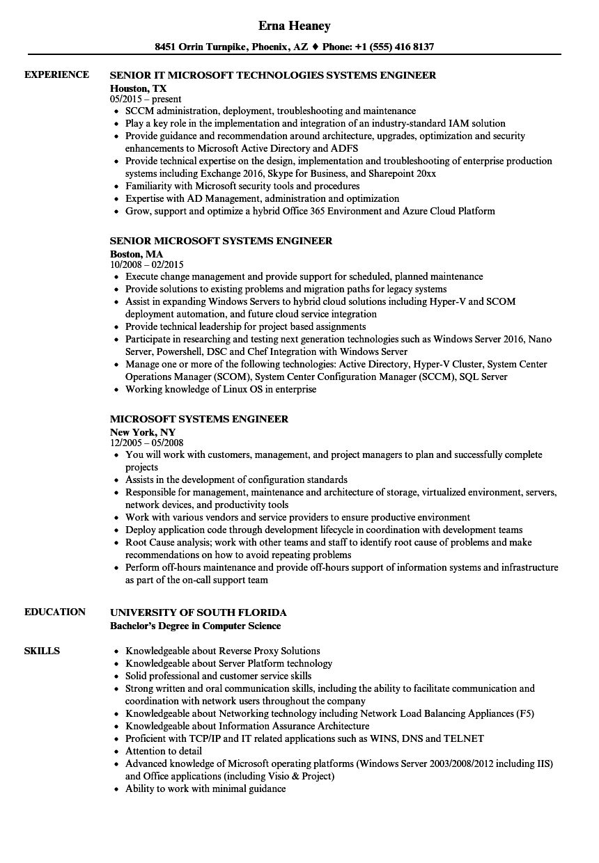 solutions engineer resume sample
