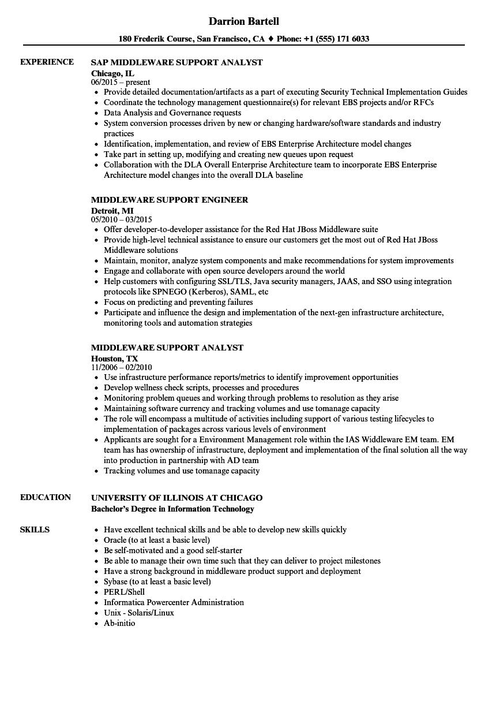 software application support resume sample