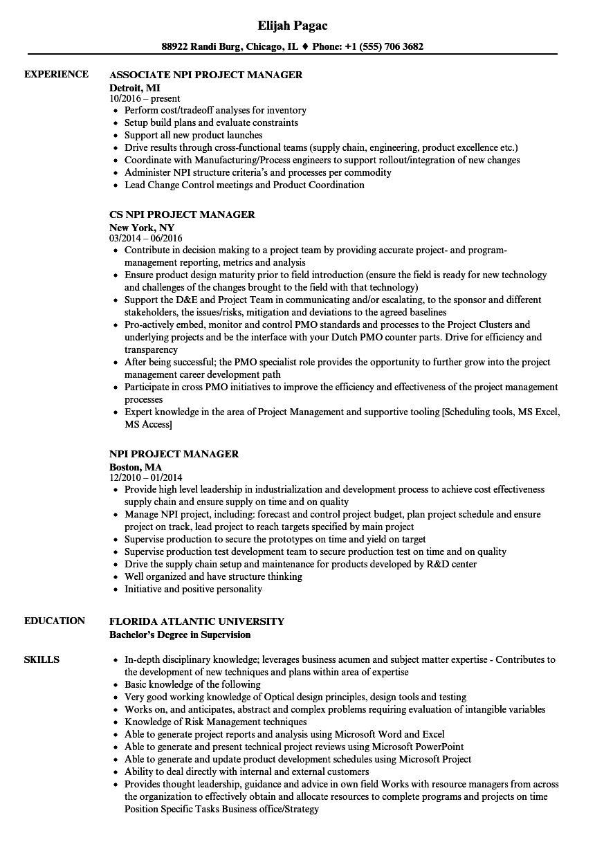 sap project systems sample resume