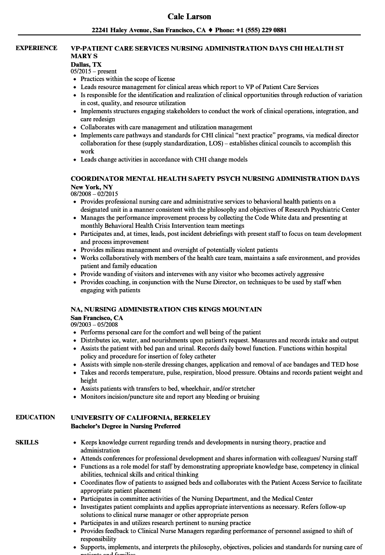 sample resume of nursing assistant
