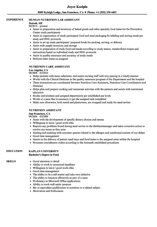 sample school food service director resume