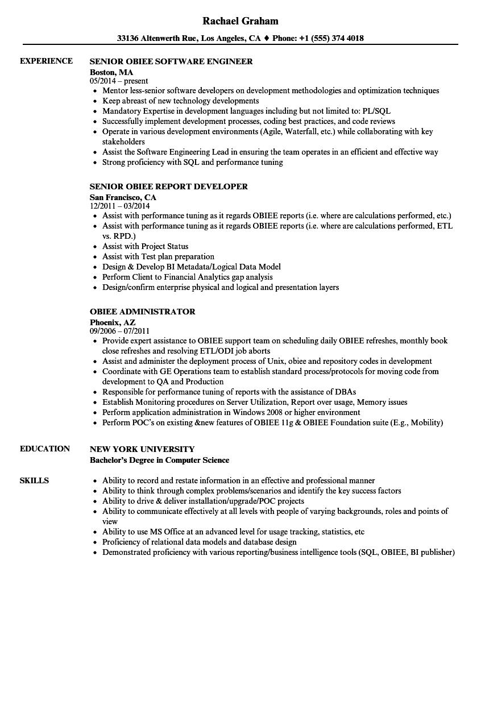 obiee sample resume jobs
