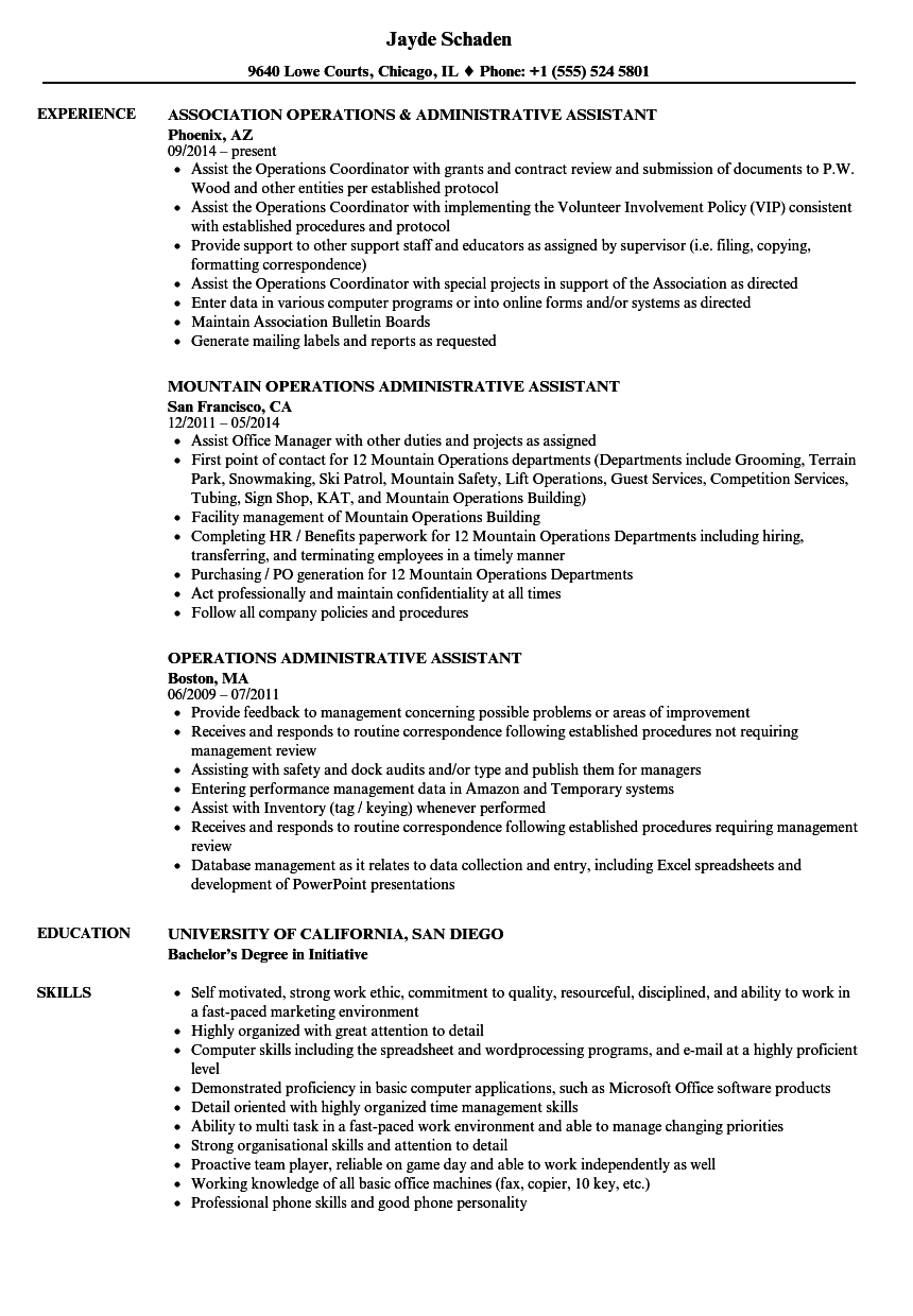 resume in office word