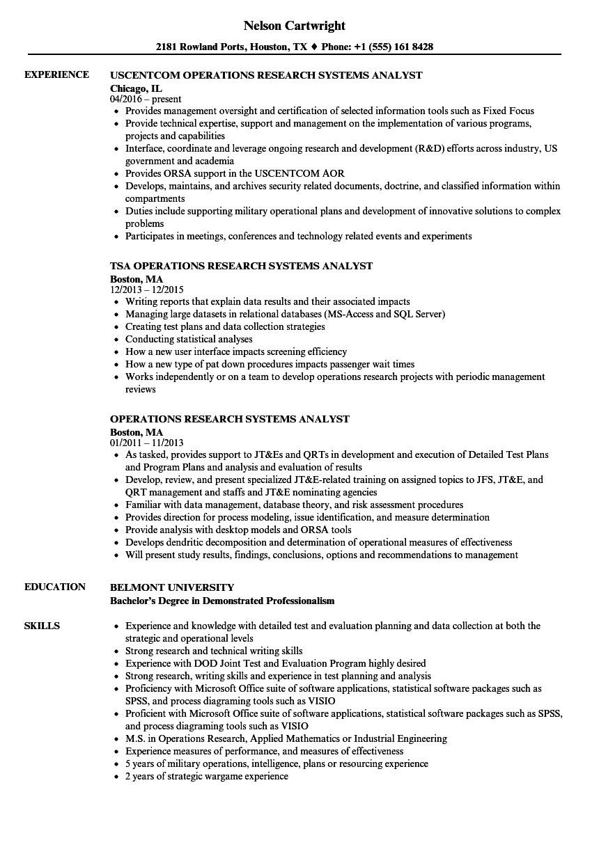 marketing operations resume sample