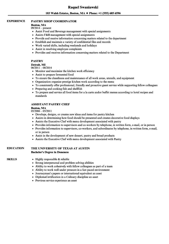 resume preparation sample