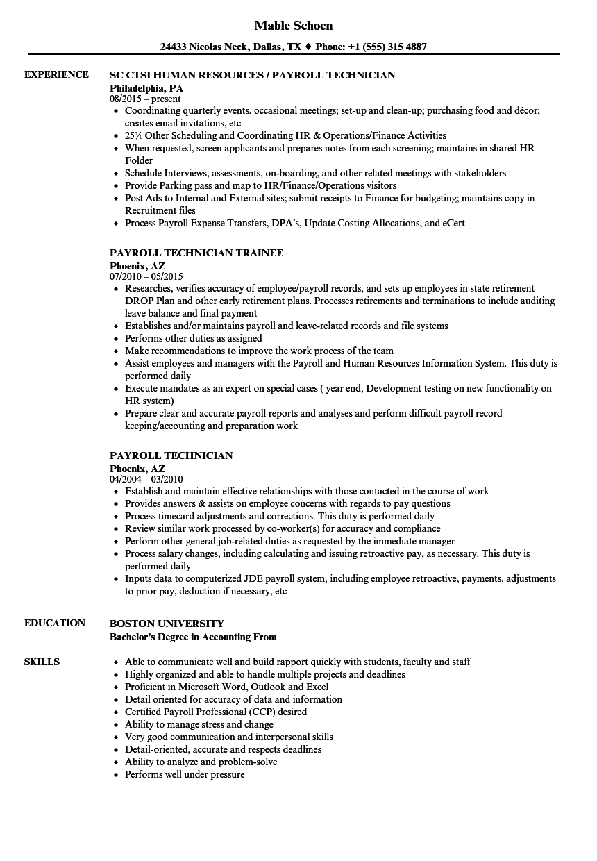 it technician resume sample