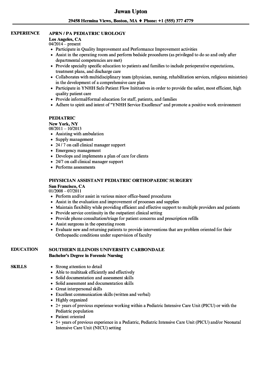 resume sample skills and experience