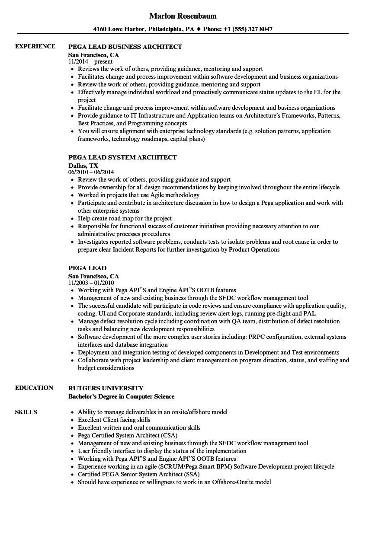 soa architecture sample resume