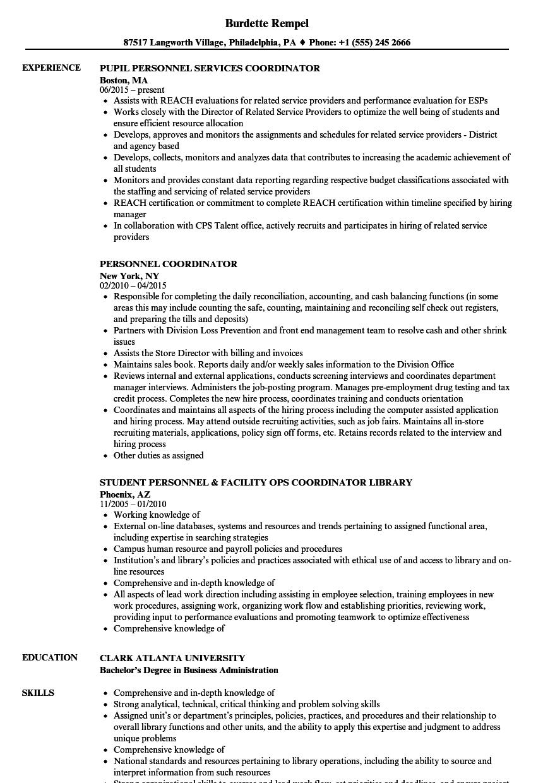 development coordinator resume sample