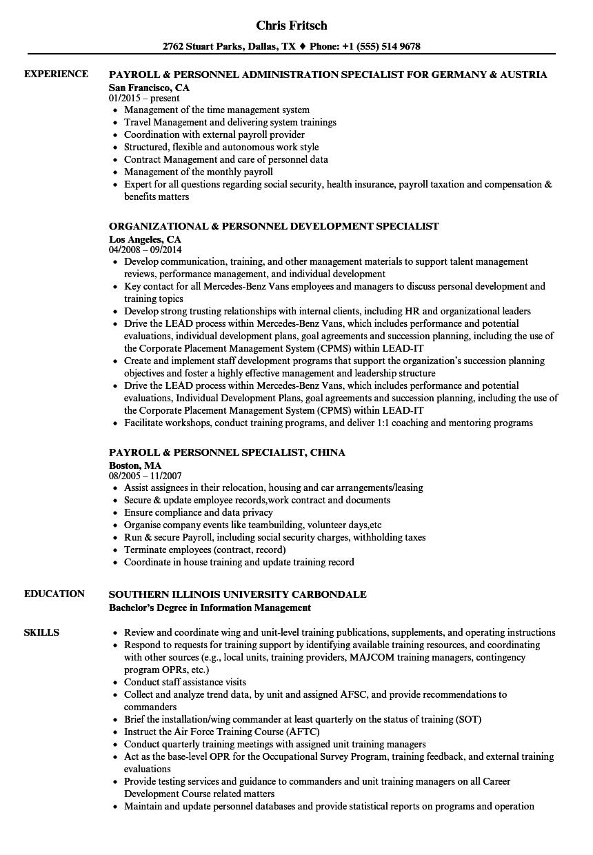 resume sample relocation coordinator