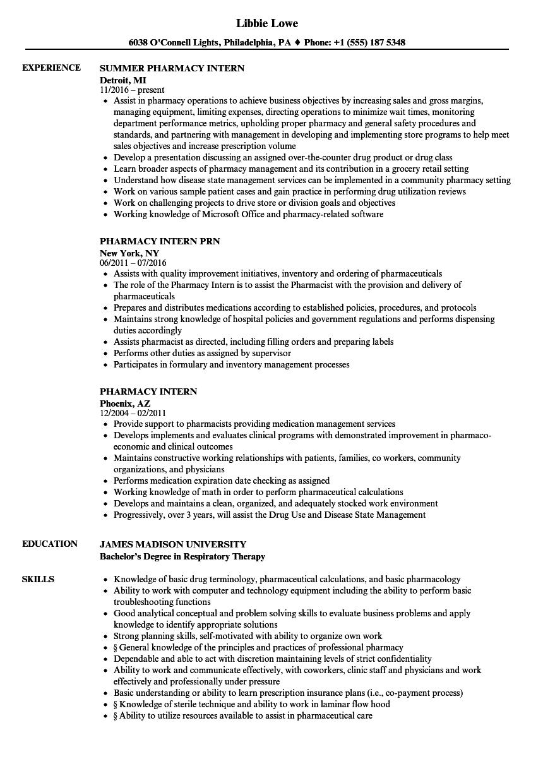 associate director pharmacy resume sample