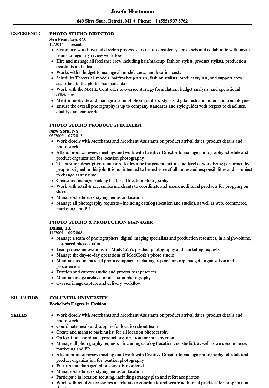 product sample shots resume