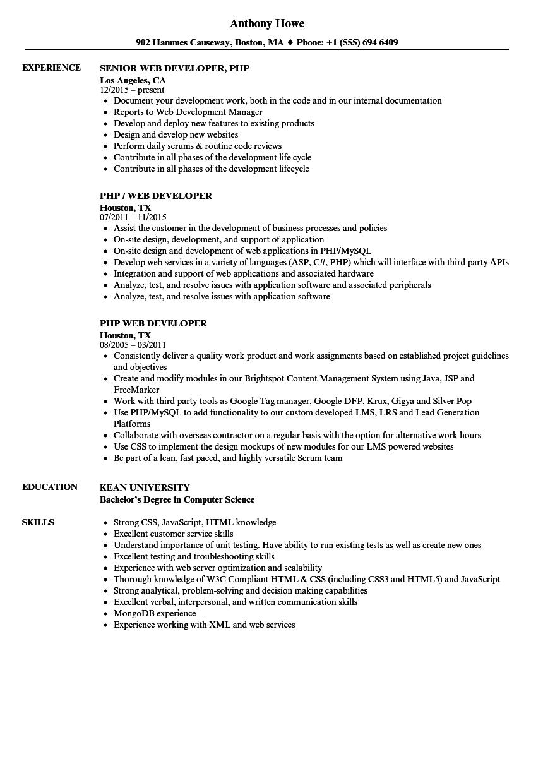 sr net developer resume sample