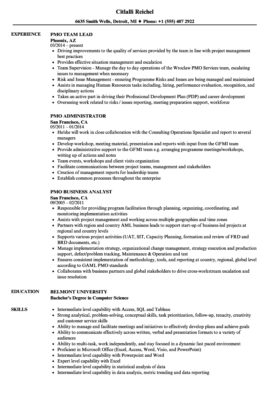 resume for team manager sample