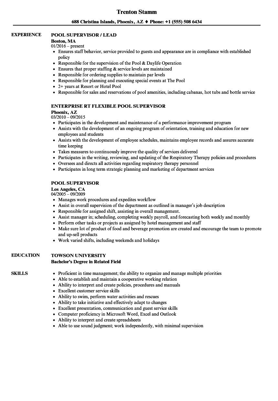 supervisor resume sample
