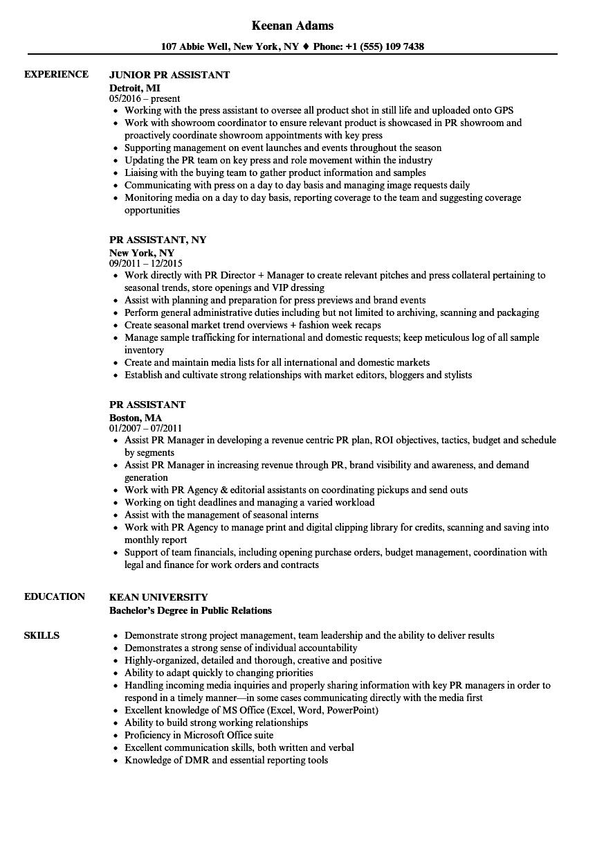 resume activities examples