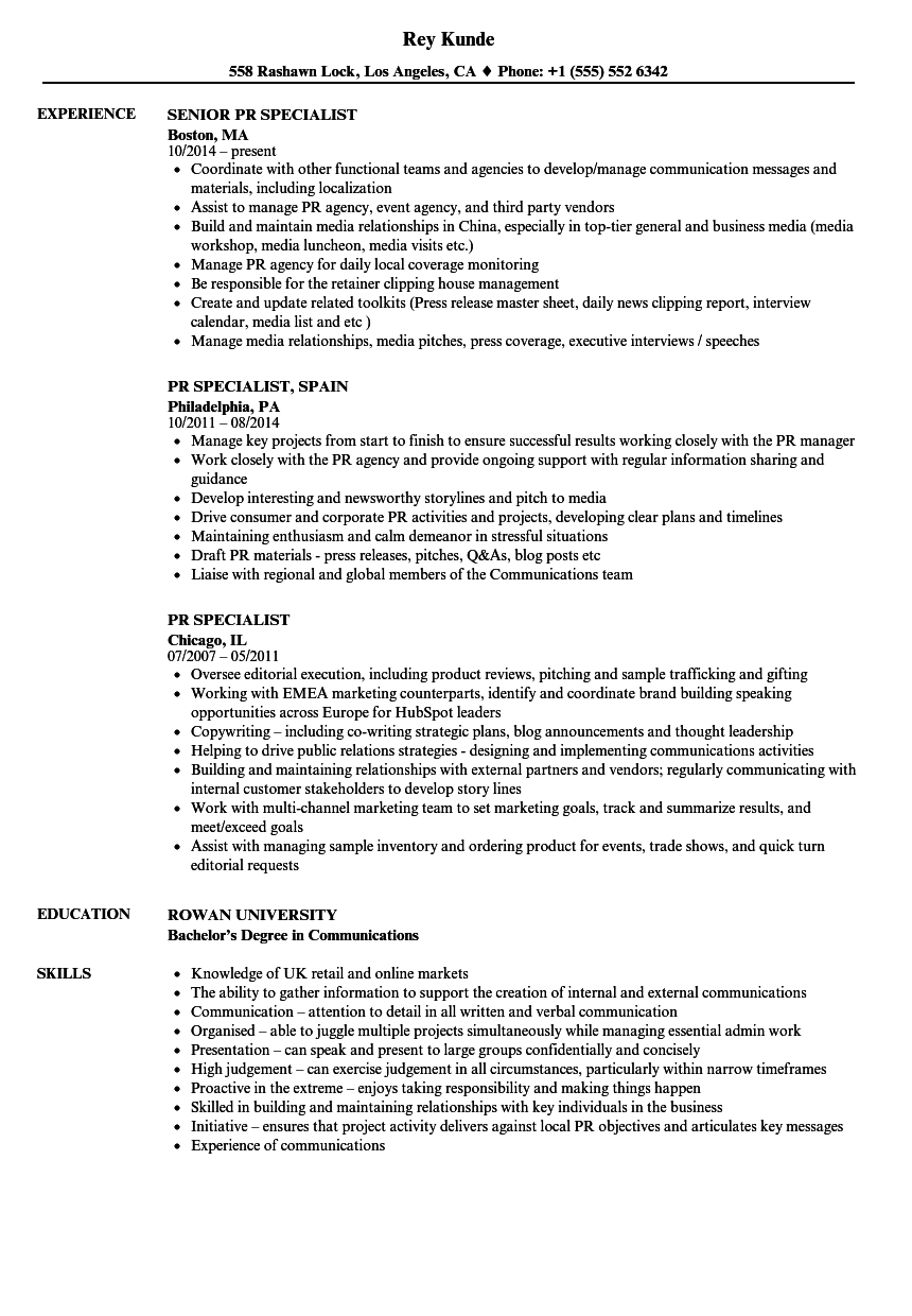 pr account executive resume sample