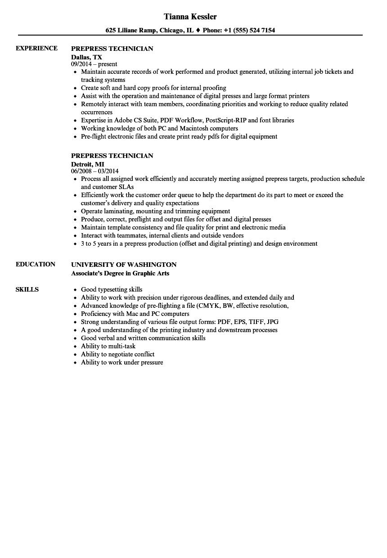 technician resume example