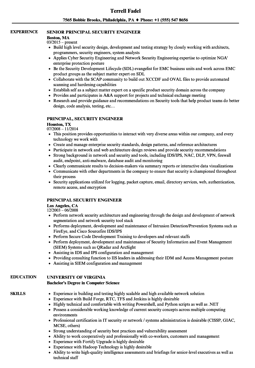 endpoint security engineer resume sample