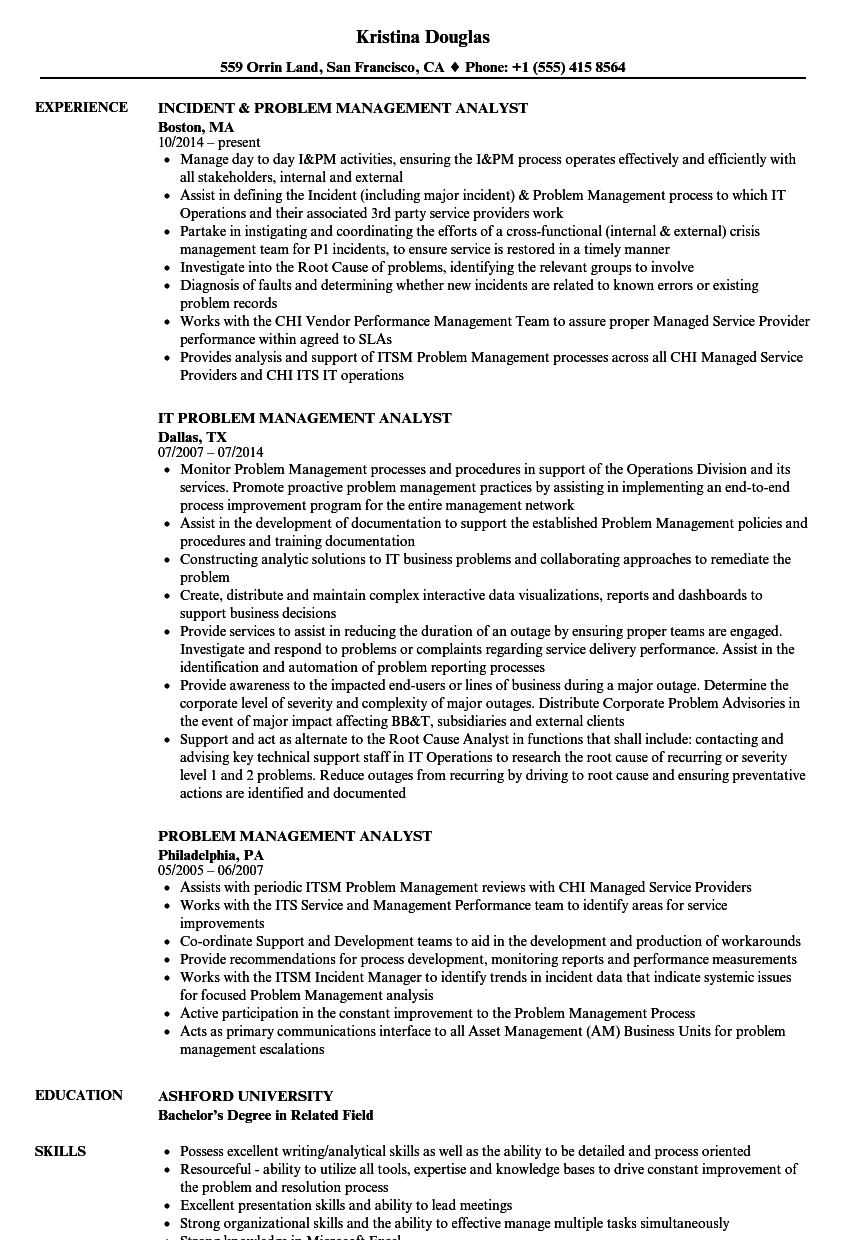 access management sample resume