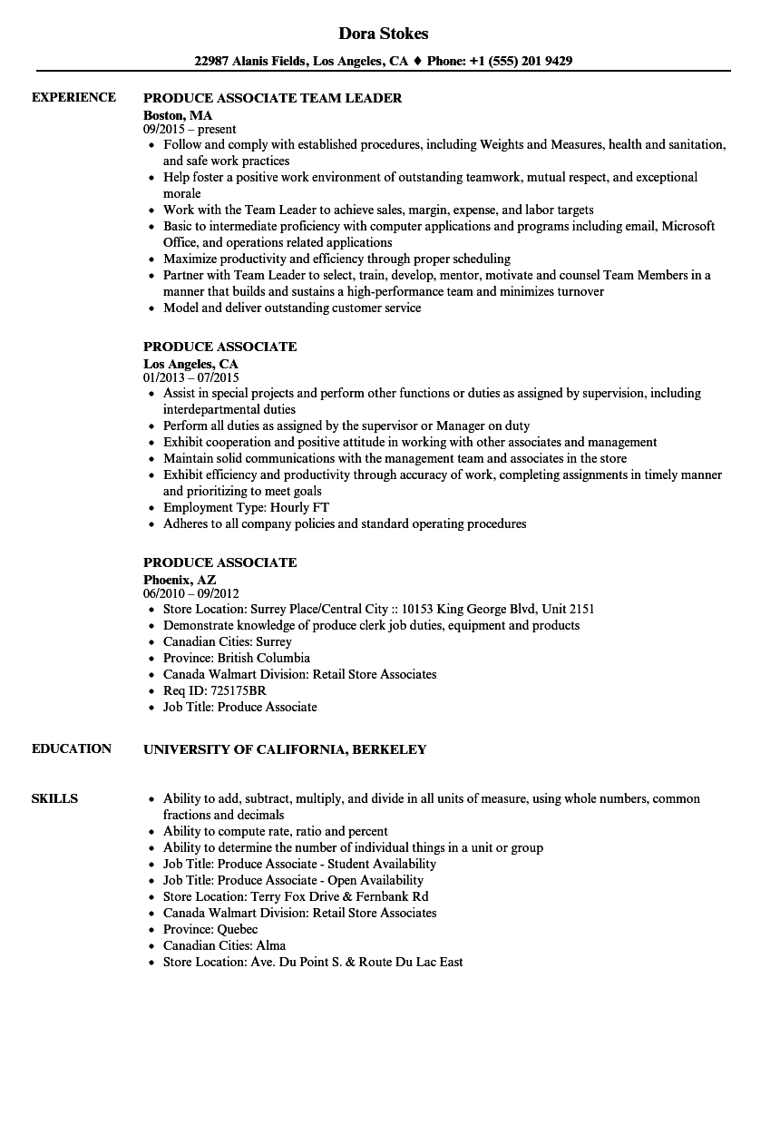 produce manager resume examples