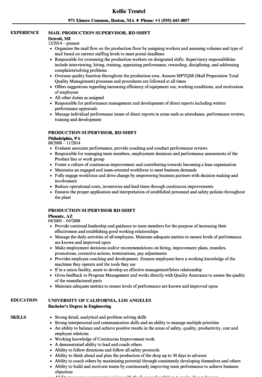 video production business resume sample