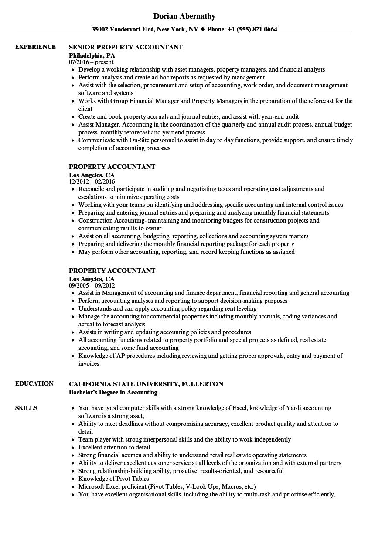 real estate accountant resume sample