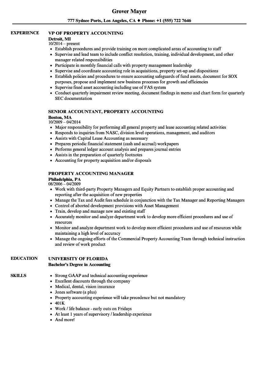 sample resume for senior accounting manager
