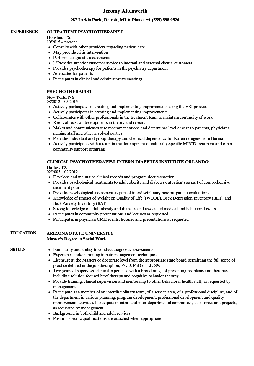 sample occupational therapy assistant student resume
